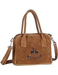 Handtasche aus Echtleder, 23cm, hellbraun