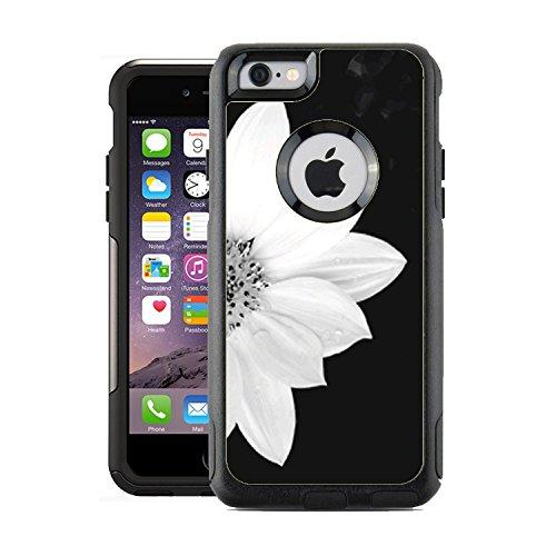 Schützende Design-Vinyl Haut Aufkleber für OtterBox Commuter iPhone 6/6S Case/Cover-Sunflower Schwarz und Weiß Design Muster-Nur Skins und Nicht Fall-von [teleskins] (Iphone 6 Skin Otterbox-case)