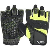 Preisvergleich für MiraFit - Damen Fitnesshandschuhe - Schwarz & Grün - verschiedene Größen