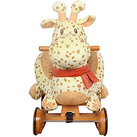 Enfants Giraffe Rocking Horse avec bois Roues Exp¨¦dition De Royaume-Uni