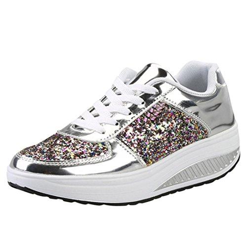 ღ UOMOGO Unisex Uomo Donna Scarpe da Ginnastica Corsa Sportive Fitness Running Sneakers Basse Interior Casual all'Aperto