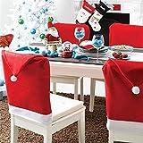 Labellevie Lot 4/6 Hussen Tischdekoration Weihnachten Form Weihnachtsmütze