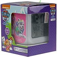 Reloj despertador digital de la patrulla canina de Nickelodeon PAW35-DALC, con cambio de color