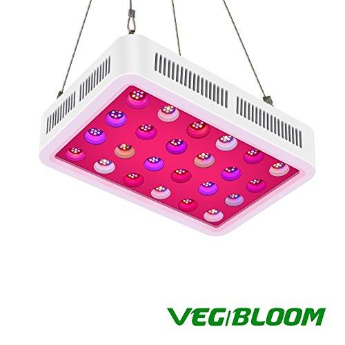 LED Pflanzenlampe, TOPLANET Reflektor 450W Led Grow Lampe UV IR Vollspektrum mit Veg & Bloom Dual Kanal für Pflanzen Wachstum Zimmerpflanzen Gemüse und Blumen im Garten Gewächshaus, Grow Box, Grow Tent