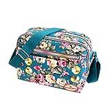 Subfamily Fashion Women Leinwand Crossbody Bag Schultertasche Messenger Bag Kosmetiktasche Frauen Damen Tasche Handtasche Retro und Klassisches Design (Himmel blau)