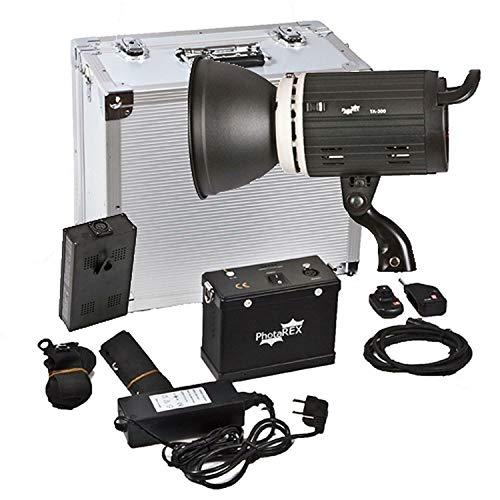 PHOTAREX TA-300 mobiler Akku Studioblitz - 300Ws - mit 220V Adapter, Funkauslöser und Alukoffer -