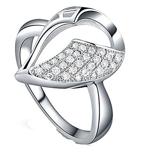 Anelli Donna Matrimonio Placcato Oro Taglio Oro Bianco Acqua Goccia Strass Dimensioni 17 Da Aienid