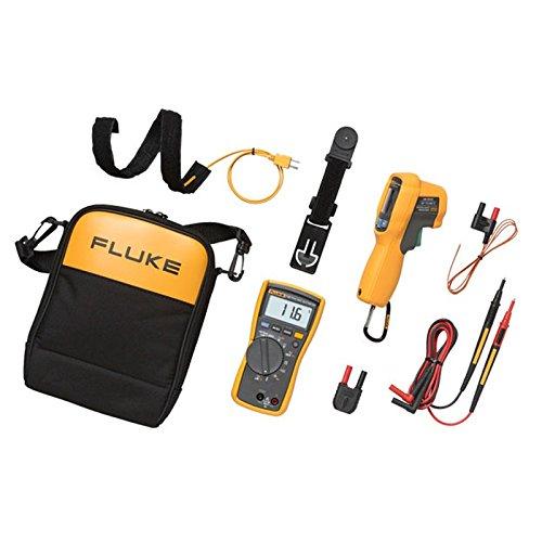 Fluke 116HLK Multimeter, HVAC Multimeter and IR Thermometer Kit, 1 Thermometer Von Fluke