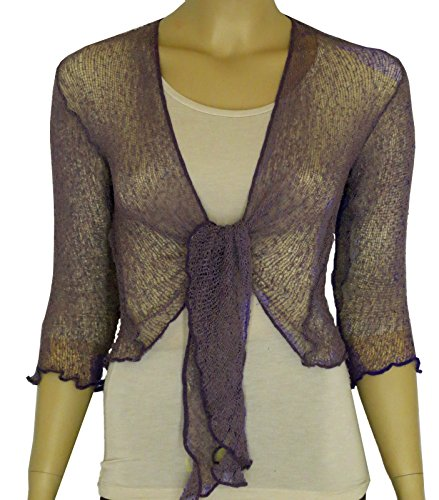 Taboo fashion clothing Damen Bolero One size Lavendel