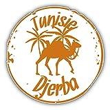 lunaprint Djerba Tunisie Grunge Travel Stamp Art Decor Vinyl Sticker Aufkleber 12 x 12 cm