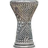Die Ivory Spectrum Darbuka von Gawharet El Fan (World Percussion) - Arabische Darbouka-Trommel/Doumbek/Darabuka/Durbaka/Darbka mit weißem Kopf/Fell von Malik
