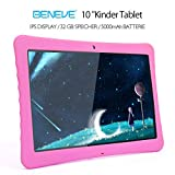 "BENEVE 10 Kinder Tablet, 10,1"" 1080P Full HD Display Android 7,0, 2GB + 32 GB, Dual-Kamera Front 2MP + Rear 5MP, Bluetooth und WiFi-Rosa"