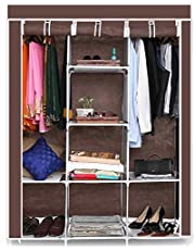 GTC 6+2 Layer Fancy and Portable Foldable Collapsible Closet/Cabinet (Need to Be Assembled) (88130)
