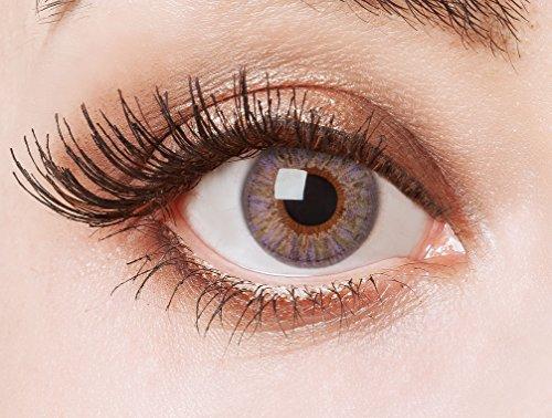 aricona Farblinsen farbig lilane Kontaktlinsen – natürlich farbige Jahreslinsen für den Alltag, bunte 12- Monats Linsen für helle Augenfarben
