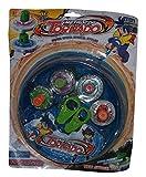 Toy - 4 x Speed Top Metall Kreisel Kampfkreisel + Blade Arena Blau Starter Set für Beyblade Fusion