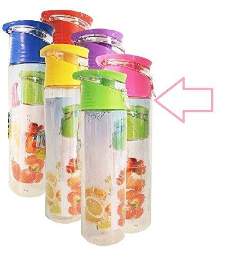 Aqua Laser Trinkflasche Trutti mit Obstfilter, 700 ml, versch. Farben (rosa)