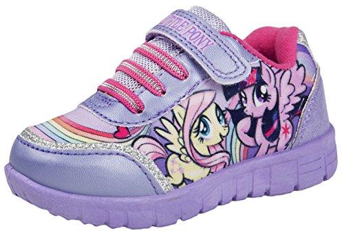 My Little Pony Sportschuhe / Skate-Schuhe für Mädchen, mit Klettverschluss, Glitzer, Größen 23-31, - Lilac Skate Shoes - Größe: 23 EU Kind -