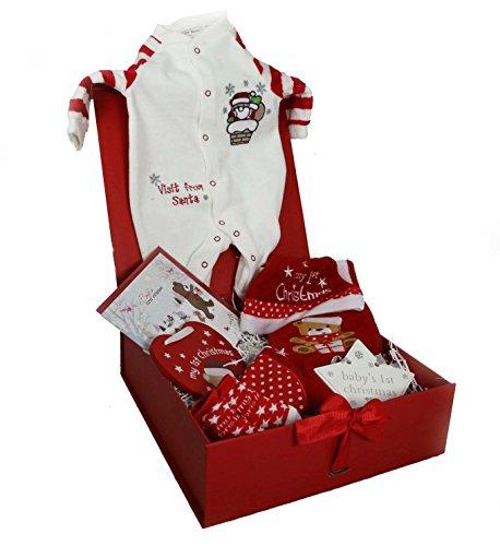 Boîte cadeau de luxe du 1er Noël de bébé (New Born, Boy)