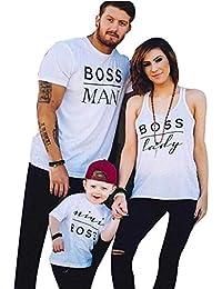 Conjuntos Bebe Niña, Lanskirt Ropa de Familia para Niños Niña Camiseta de Manga Corta con Estampado de Letras…