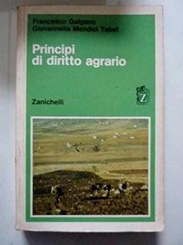 PRINCIPI DI DIRITTO AGRARIO