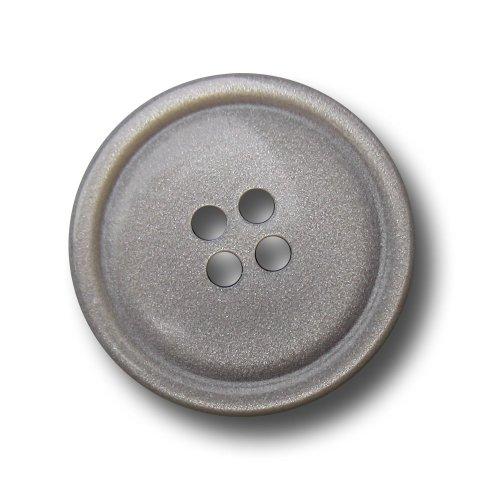 Knopfparadies - 10er Set bildschöne Vierloch Knöpfe mit dezentem Glitzer Effekt / silber grau / Kunststoff / Ø ca. 17 mm (Kunststoff Grau Silber)