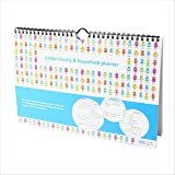tiddler family & household planner | Weekly Family Organiser / Planner Calendar | Clever Layout in A4 Size | Space For 6 People & 1 Years Planning | Packed With Useful Features (Robots Design)
