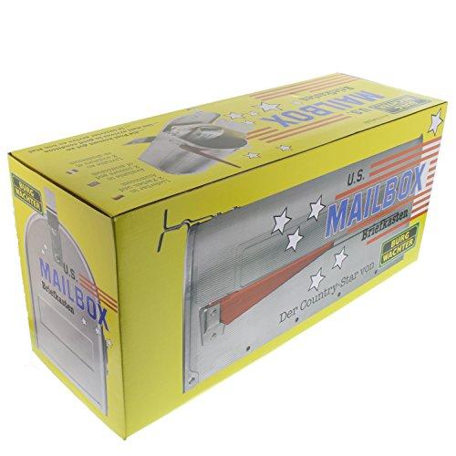 BURG-WÄCHTER, US-Mailbox mit schwenkbarer Fahne, 892 ALU, Massiv Aluminium - 7