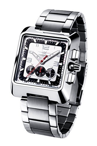 FIREFOX SEASEEKER FFS160-101 weiß Chronograph Herrenuhr Damenuhr Armbanduhr Sicherheitsfaltschließe massiv Edelstahl