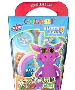 SUPER DAFFY-Cool Dragon plastilina, Modelos y Colores Surtidos