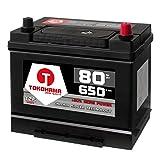 Tokohama Autobatterie 80Ah 650A/EN Asia Japan Starter Batterie Plus Pol Rechts ersetzt 70Ah 75Ah 12V