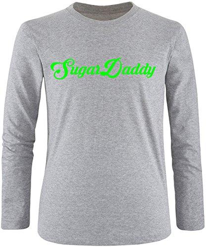 EZYshirt® Sugardaddy Herren Longsleeve Grau/Neongrün