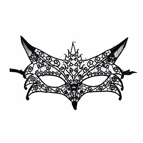 ONE-K Mask Spitze Schwarze Spitze Maske Weibliche Stereotypen Hohlen Tanzparty Party Sexy Halbe Gesicht Halloween Maske, ()