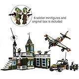 Ingenious Toys Box Set - Militär Basis Hauptsitz LKW Plane 6 Minifiguren / 627pcs Baukasten A714