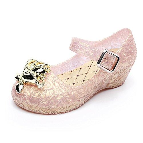 Amorar Cinderella Crystal Schuhe, Mädchen Gelee Prinzessin Wedges Tanzschuhe mit Glitter
