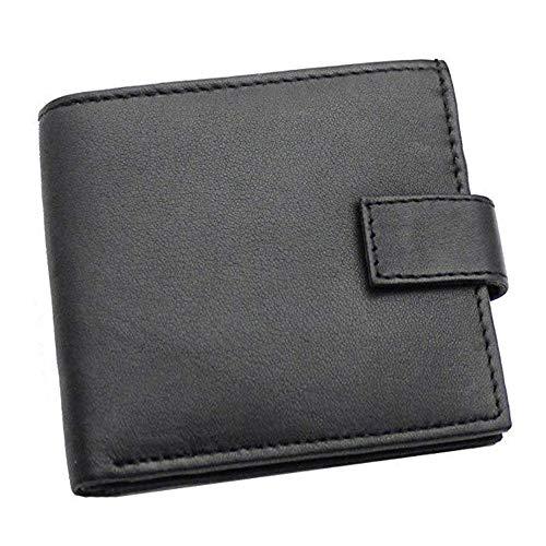 Große Kapazität Unisex Leder Geldbörse schwarz 85cm * 90cmRobustes doppeltes Falten - Visitenkartenhalter - Münztasche - Box usw. für mehrere Zwecke -
