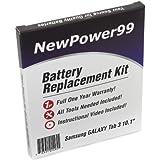 Kit de Reemplazo de la Batería para Samsung GALAXY Tab 3 10.1 Serie (GALAXY Tab 3 10.1 GT-P5200, GALAXY Tab 3 10.1 GT-P5210) Tablet con Video de Instalación, Herramientas y Batería de larga duración