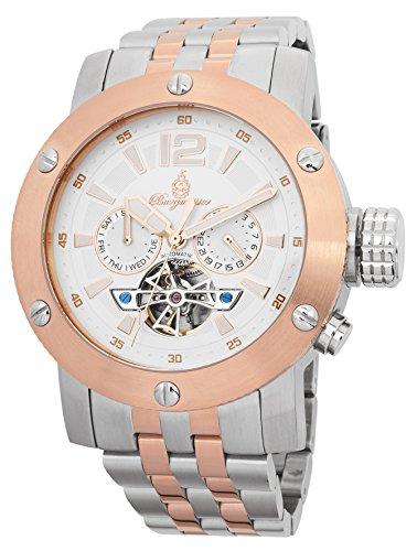 Burgmeister Armbanduhr für Herren mit Analog Anzeige, Automatik-Uhr mit Edelstahl Armband - Wasserdichte Herrenuhr mit zeitlosem, schickem Design - klassische Uhr für Männer - BM329-317 Palm Springs
