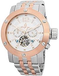 Burgmeister BM329-317 - Reloj para hombres, correa de acero inoxidable chapado color oro rosa