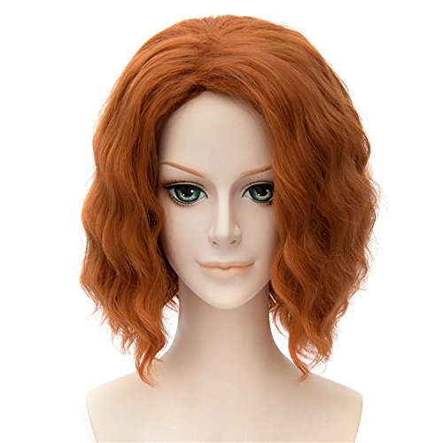 LanTing Cosplay Perücke The Avengers Black Widow Orange Styled Frauen Cosplay Party Fashion Anime Human Costume Full wigs Synthetic Haar Heat Resistant (Perücke Widow Black Avengers)
