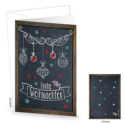 10 Stück gleiche Weihnachtskarten