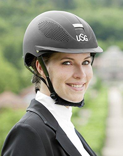 USG Reithelm Comfort Training, schwarz/schwarz, M/L