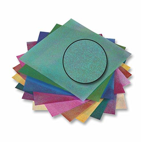 Irisierendes Papier 75g/m², 14x14cm farbig sortiert