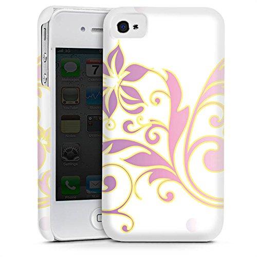 Apple iPhone 4 Housse Étui Silicone Coque Protection Motif floral Ornements Floral Cas Premium mat