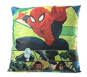Diakakis-0500815u-Cojín (poliéster bajo Licencia Reversible Spiderman-Dimensiones 35x 35cm