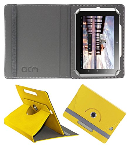 Acm Rotating 360° Leather Flip Case for Hcl Me Y2 Cover Stand Yellow  available at amazon for Rs.149