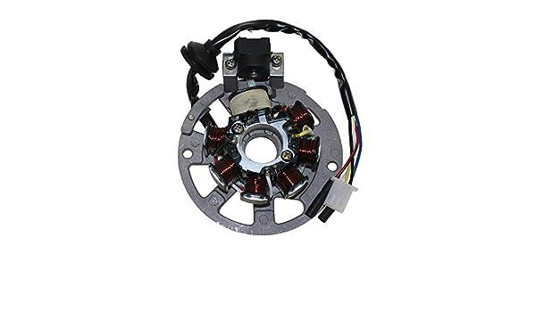 Lichtmaschine Stator Version 1 3Pins und 2 Kabel f/ür Roller Baotian Keeway CPI