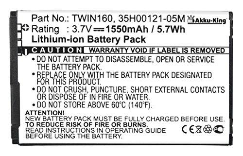 Akku-King Akku ersetzt HTC TOPA160, TWIN160, BA-S360, BA-S380 Li-Ion - 1550mAh - für Touch Diamond 2, Google G3, Tattoo, O2 XDA Diamond 2, T5353 Sprint Touch Diamond