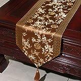 NKLHJ Tischläufer Stolz Rose Satin Tischläufer Tischfahne Tischdecke Einfache Tee Tischläufer Bett Flagge Dekoration (33 * 300 cm)