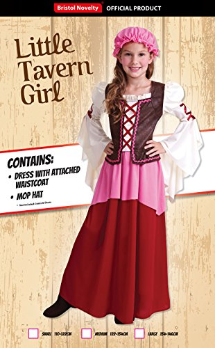 Tavernen Mädchen Mittelalterliche Magd Wirtin Kinder Kostüm Gr. L (9-12 Jahre) - 2