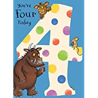 """The Gruffalo GR004""""Age 4"""" Birthday Card"""